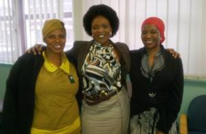 Pauline Mashele (Auxiliary  Nurse); Nombulelo Mabambo (Asst. Director: JCW) and Lesiah Motaung (Caregiver)