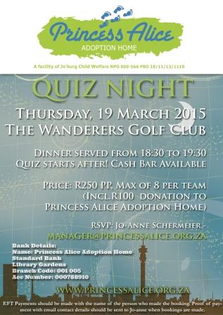 All proceeds from Quiz Night will go towards the care of 30 babies in our nursery